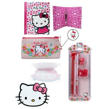 27-38500, Hello Kitty Set Schreibset Ordner Notizblock Etui