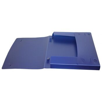 Dokumentenbox Sammelbox A4 mit Tragegriff transparent blau