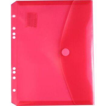 Dokumententaschen Klettverschluss u. Abheftrand A5 quer trans.rot-10 Stück