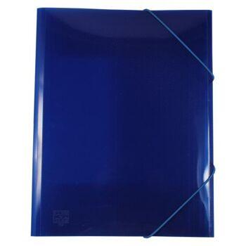 Eckspanner / Gummizugmappe A4 transparent blau