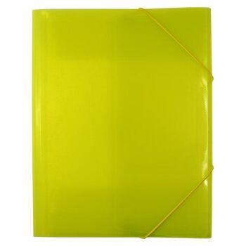Eckspanner / Gummizugmappe A4 transparent limone