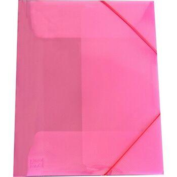 Eckspanner / Gummizugmappe A4 transparent rot