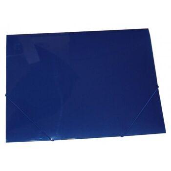 Eckspanner Gummizugmappe A3 transparent blau