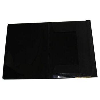 Eckspanner Gummizugmappe A3 transparent schwarz