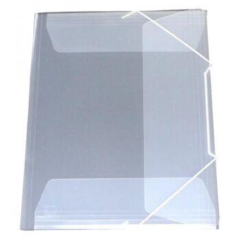 Eckspanner Gummizugmappe A3 transparent weiß