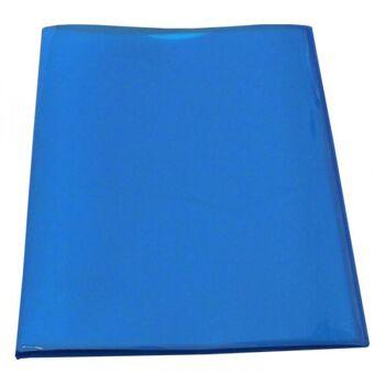 Flexibles Sichtbuch A4 mit 20 Hüllen in transparent blau