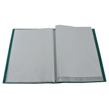 Flexibles Sichtbuch A4 mit 20 Hüllen in transparent türkis