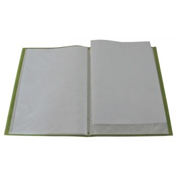 Flexibles Sichtbuch A4 mit 40 Hüllen in transparent limone