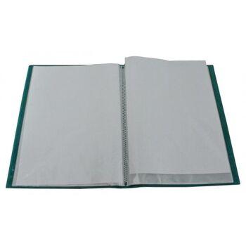 Flexibles Sichtbuch A4 mit 40 Hüllen in transparent türkis