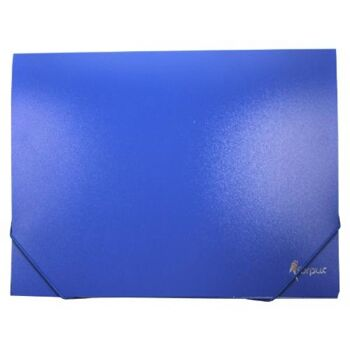 Gummizugmappe, Eckspannermappe blau