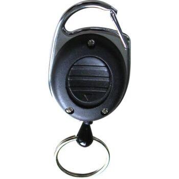 Jojo Ausweishalter LED schwarz mit Schlüsselring