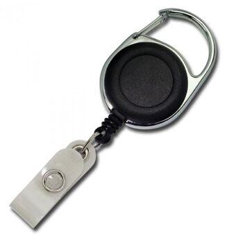 JOJO - Ausweishalter runde Form Metallumrandung schwarz - 100 Stück