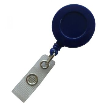 JOJO - Ausweishalter runde Form mit Gürtelclip blau - 100 Stück