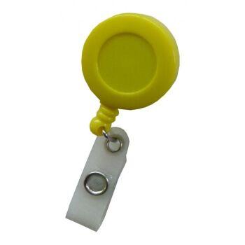 JOJO - Ausweishalter runde Form mit Gürtelclip gelb - 100 Stück