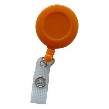 JOJO - Ausweishalter runde Form mit Gürtelclip orange - 100 Stück