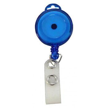 JOJO - Ausweishalter runde Form transparent blau - 100 Stück