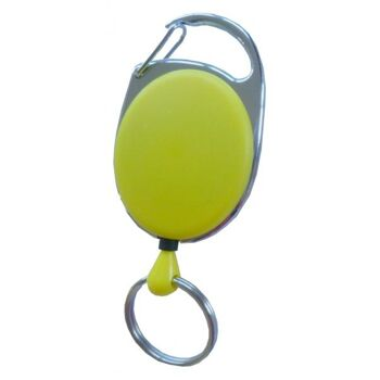 JOJO oval Metallumrandung Schlüsselring gelb - 10 Stück