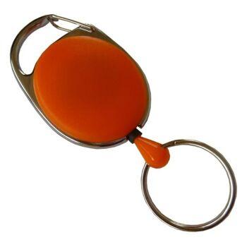 JOJO oval Metallumrandung Schlüsselring orange - 100 Stück