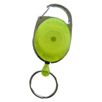 JOJO oval Metallumrandung Schlüsselring transp. gelb 100 Stück