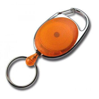 JOJO oval Metallumrandung Schlüsselring transp. orange 10 Stück