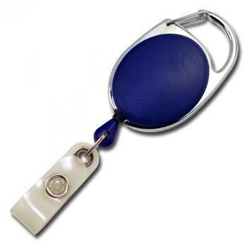 JOJO oval Metallumrandung Schnappverschluss blau - 100 Stück