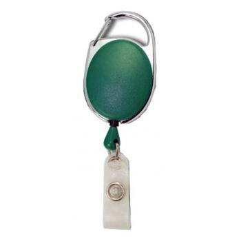 JOJO oval Metallumrandung Schnappverschluss grün - 100 Stück