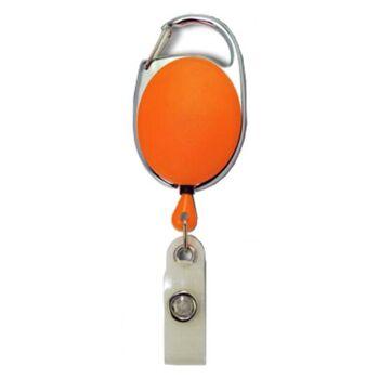 JOJO oval Metallumrandung Schnappverschluss orange - 10 Stück