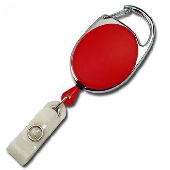 JOJO oval Metallumrandung Schnappverschluss rot - 10 Stück