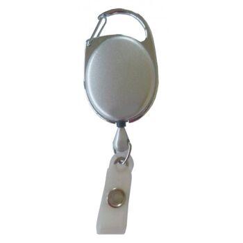 JOJO oval Metallumrandung Schnappverschluss silber - 100 Stück