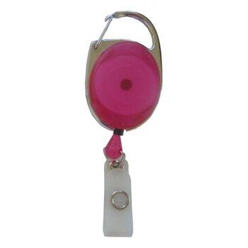JOJO oval Metallumrandung Schnappverschluss trans. pink - 100 Stück