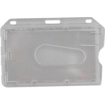 Kartenhalter aus transparent poliertem Polykarbonat - 100 Stück