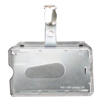 Kartenhalter Ausweishalter mit nylonverstärktem Clip - 25 Stück