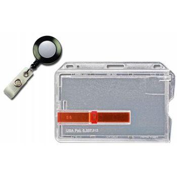 Kartenhalter mit rotem Ausschieber mit schwarzem Jojo - 20 Stück