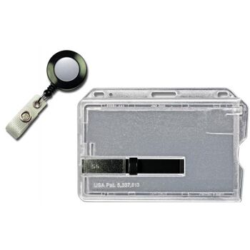 Kartenhalter mit schwarzem Ausschieber mit schwarzem Jojo 20 St.