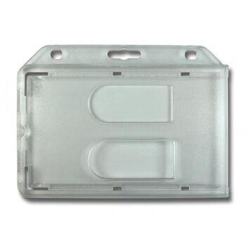 Kartenhalter transparent-matt für 2 Karten - 10 Stück
