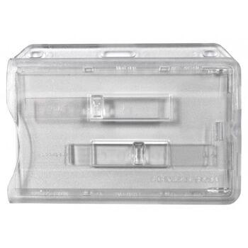 Kartenhalter transparent mit 2 transparenten Ausschiebern 10 Stück