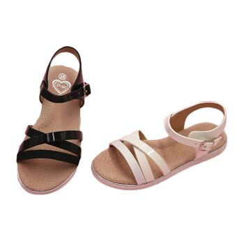 Kinder Baby Mädchen Sandale Sandalette Größen 25-36 Slipper Schuh - 8,90 Euro