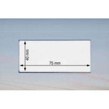 Namensschild 75 x 40 mm - 100 Stück