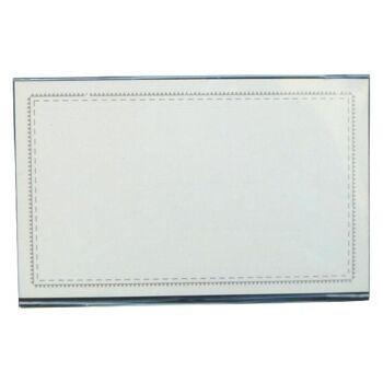 Namensschilder Format 58 x 90 mm mit Clip-Nadel-Kombination - 50 Stück