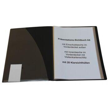 Präsentationsbuch A4 mit 20 Hüllen schwarz
