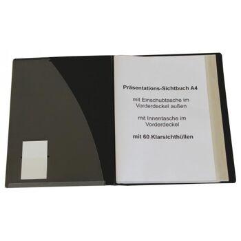 Präsentationsbuch A4 mit 60 Hüllen schwarz
