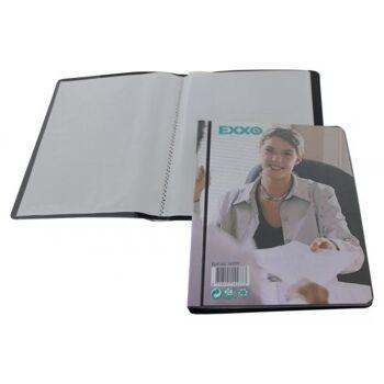 Präsentationsbuch A5 mit 20 Hüllen schwarz