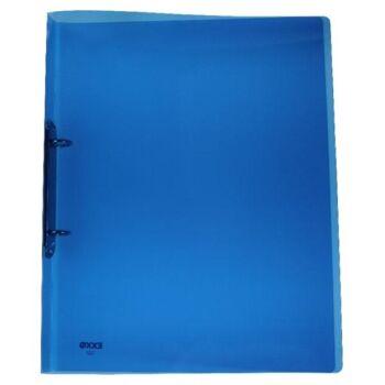 Ringbuch 2 Ringe Kunststoff transparent blau