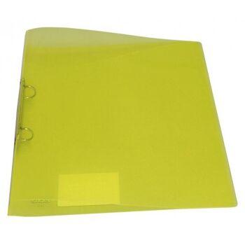 Ringbuch 2 Ringe Kunststoff transparent limone
