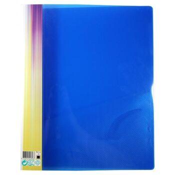Ringbuch 2er D-Ring-Mechanik Stegtasche trans. d. blau mit Struktur