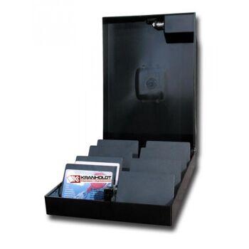Sammelbox mit Schloss abschließbar für Mitgliedskarten oder Betriebsausweise