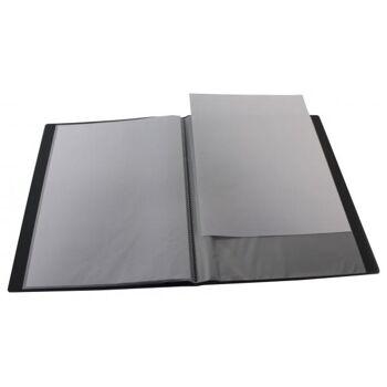 Sichtbuch A4 mit Beschriftungsfenster mit 10 Hüllen transparent schwarz