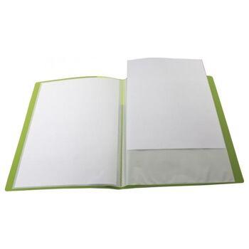 Sichtbuch A4 mit Beschriftungsfenster mit 20 Hüllen transparent limone