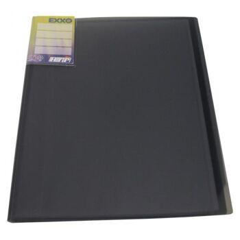 Sichtbuch A4 mit Beschriftungsfenster mit 20 Hüllen transparent schwarz