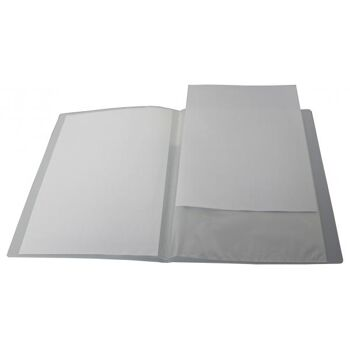 Sichtbuch A4 mit Beschriftungsfenster mit 20 Hüllen transparent weiss